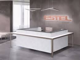 Reception Desk With Display More Office Reception Desk By Estel