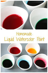 make your own liquid watercolor paint emma owl