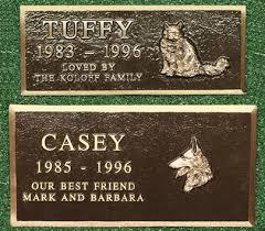 bronze memorial plaques pet markers plaques cast bronze pet memorial marker large