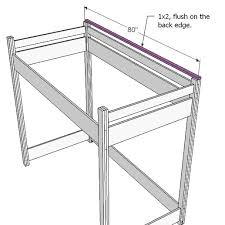 Free Plans For Loft Beds With Desk by Ana White How To Build A Loft Bed Diy Projects