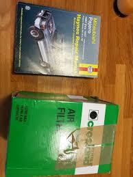 mitsubishi pajero haynes manual and air filter in didcot