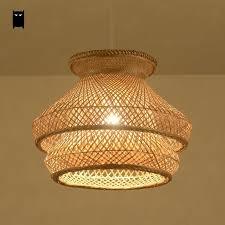 Bamboo Ceiling Light Bamboo Wicker Rattan Shade Chandelier Light Fixture Pendant