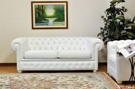 White Leather Chesterfield Chair Chesterfield 2 Maxi Seater Sofa Two Large Cushions