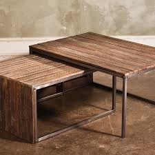 wood nesting coffee table wood nest of tables choice image table decoration ideas
