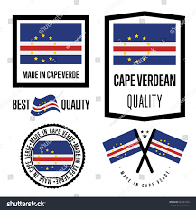 Flag Manufacturers Cape Verde Quality Isolated Label Set Stock Vector 644923129