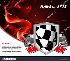 Images Of Racing Flags Racing Poster Flames Fire Racing Flag Stock Vector 81735508