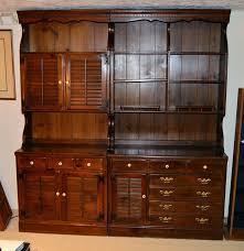 Ethan Allen Corner Desk by Ethan Allen Bookcase And Cabinet Ebth
