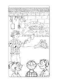coloring page baking matza click on picture to print