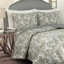 traditions by waverly tulip toile 3 piece quilt set u0026 reviews