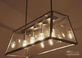 Chandelier With Edison Bulbs Modern Rh Filament Chandelier Edison Bulb Glass Box Living Room
