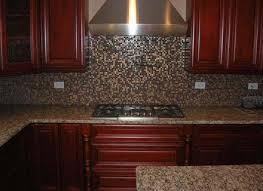 mosaic tile backsplash with granite countertops ideas perla di