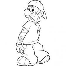 draw gangster luigi step step video game characters