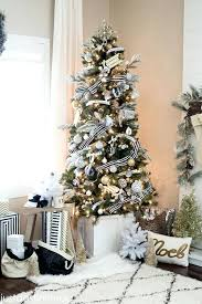 outstanding trees decorated in gold and silver black and