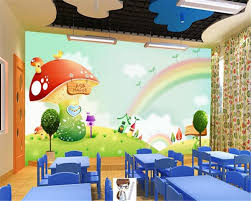 beibehang wall paper home decor dreamland rainbow mushroom