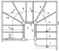 Box Stairs Design Curved Glass Stairs