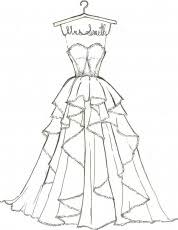 printable coloring pages dresses quality coloring pages