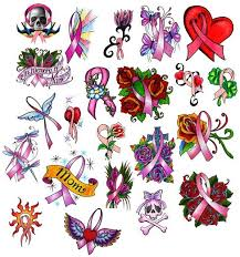 210 best cancer ribbon tattoos images on cancer ribbon