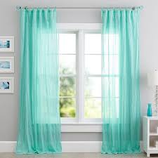 Sheer Teal Curtains Twisted Sheer Window Curtains