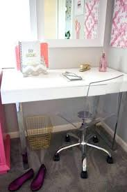 Girly Desk Chair White Office Pretty Lovely Chairs Cha
