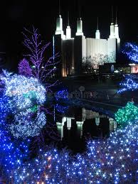 christmas lights in maryland mormon temple kensington maryland stock image image of outdoors
