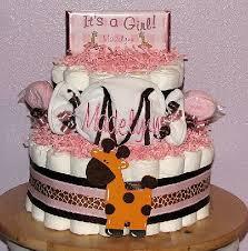 baby love diaper cakes personalized pink giraffe diaper cakes