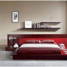 Platform Bed With Nightstands Attached Bedroom Modern Platform Bed Full Size Marquee Contemporary Eco