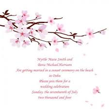 cherry blossom wedding invitations cherry blossom theme wedding ideas lovetoknow
