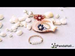 Pandahall Tutorial On How To Pandahall Tutorial On How To Make Simple Beaded Flower Rings With