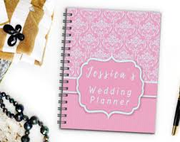of honor planner book wedding planner notebook etsy