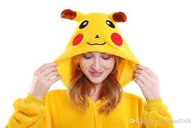 Pikachu Costume Cosplay Halloween Pikachu Costume Child For Kids Onesie Pajamas