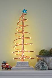 spiral copper christmas tree