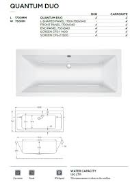 carron quantum double ended bath uk bathrooms