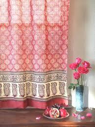 Sari Fabric Curtains Silk Sari Curtains Burnt Orange Sari Curtains Silk Sari Curtains
