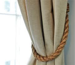 chunky rustic manila curtain tiebacks shabby chic vintage