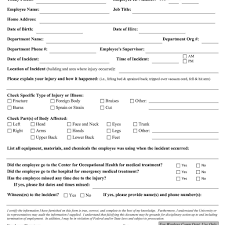 blank security incident report template template for attendance