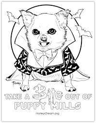 Halloween Themed Coloring Pages by Take A Bite Out Of Puppy Mills U2013 Harley U0027s Dream