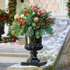 pre lit merry bright urn filler improvements catalog
