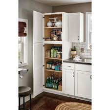 arcadia white kitchen cabinets lowes now arcadia 18 in w x 84 in h x 23 75 in d white door pantry stock cabinet
