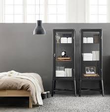 fabrikör vitrinekast donkergrijs interiors bedrooms and open