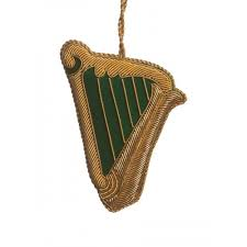 embroidered harp ornament