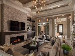 Define Livingroom by A Dramatic Coffered Ceiling Defines This Great Room That Opens To