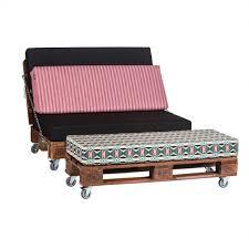 canapé lit palette banquette lit ethnique en palettes pour intérieur espia