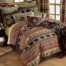 Brown Queen Size Comforter Sets Bedroom Luxury Pattern Bedding Design With Western Comforters