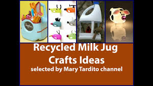 best recycled milk jug crafts ideas youtube