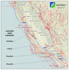 san francisco fault map where the san andreas goes to get away from it all temblor net