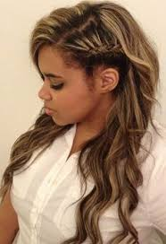 hairstyles that look flatter on sides of head side head braid curly hair google search hair pinterest