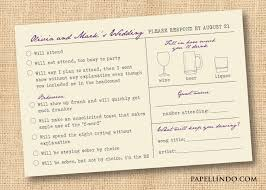 Wedding Invitations With Rsvp Cards Included Funny Vintage Wedding Mad Libs Reply Rsvp Card Printable
