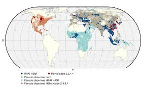Wild Horses In America Map by Global Mapping Of Highly Pathogenic Avian Influenza H5n1 And H5nx