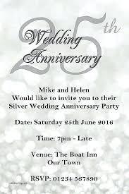 tenth wedding anniversary ideas 25 years wedding anniversary invitation cards or tenth