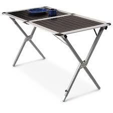 guide gear xl deluxe camp table 216093 tables at sportsman u0027s guide